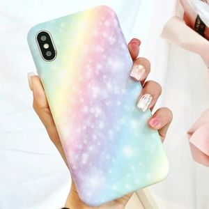 NEW iPhone X/XS Pastel Rainbow Case